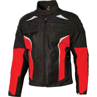 Scorpion Mens Exo Hat Trick 2 Jacket Mesh Motorcycle Black Red White