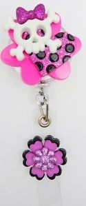 Halloween Cross and Skull Bones Retractable ID Metal Badge Holder with Metal CLI
