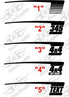 2009 Up Dodge RAM Retro Hockey Stick Stripes Decals