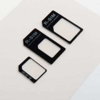 3 Adapters Nano Micro Sim Card Adapter Tray Holder for iPhone4 4S 2 Colors