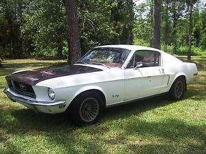 1968 Ford Mustang Fastback Drive It Home White Red Project Car Father Son