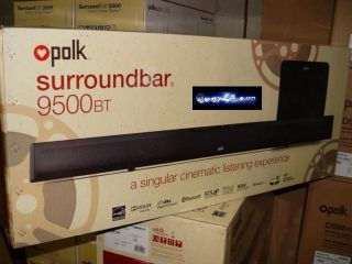 Polk Audio Surroundbar 9500BT Home Theater Surround Bar 9500 BT Wireless Sub New