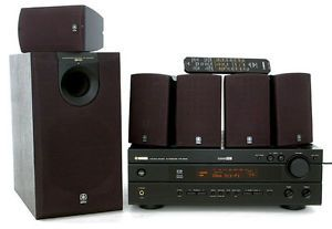 Yamaha YHT 300 5 1 Channel Home Theater System w 5 Speakers Sub Remote in Box 027108102887