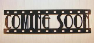 Metal Wall Art Home Theater Decor Coming Soon Film