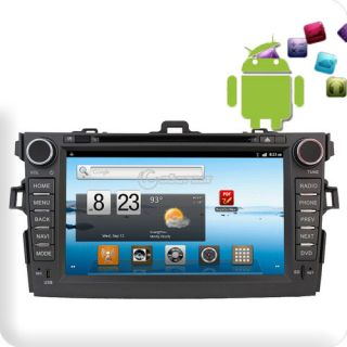 Car Radio CD DVD Player Pure Android 3G WiFi GPS DVB T TV for Corolla 2008 2010