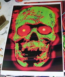 Zombie Skull Poster Digital Print Halloween Horror Scary Creepy Unique