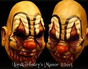 New 2013 Blood Sucker Clown Halloween Mask with Moveable Jaw Prop Horror