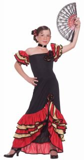 Flamenco Costume Girls Child Kids Mexican Dance Spanish Dress Medium