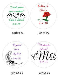 216 Hershey Kisses Wedding Bridal Shower Personalized Favors Labels