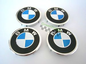 BMW Aluminium Wheel Center Caps Hubs 4pcs 60mm Logo Emblem Alloy Rims M3 M5