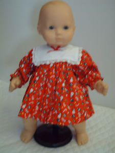 American Girl Bitty Baby Christmas Dress