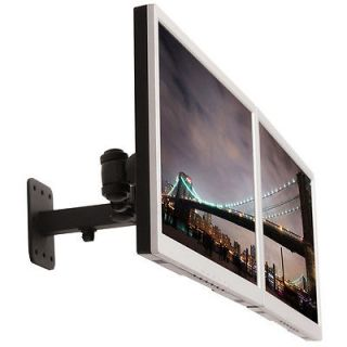 Monmount Dual LCD Screen Monitor Wall Mount Arm Bracket