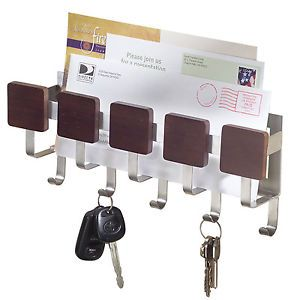 Mail Organizer InterDesign Formbu Wall Mount Key Rack Holder Letter New