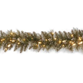 National Tree Co. Glittery Bristle Pine Pre Lit 9 x 10 Garland