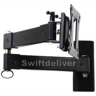 "Tilting Swivel Arm LCD LED TV Monitor Wall Mount 15 17 19 20 22 23 24 26 27"" CXB"