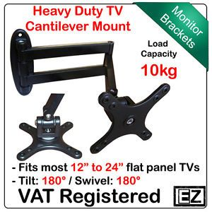 "14"" to 24"" Flat Panel TV Cantilever Mount LCD LED TV or Monitor Wall Mount"