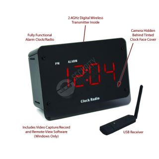 Wireless WiFi Alarm Clock Radio Hidden Camera IP Internet USB Spy Nanny Cam New