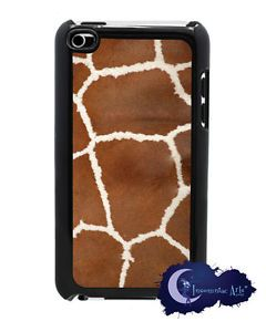 Giraffe Animal Print iPod Touch 4th Generation Cover Black Case Sides