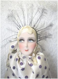 RARE Antique French Boudoir Doll Style Art Deco Paris c1920 1930