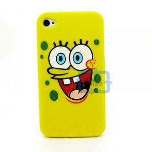 Spongebob Silicone Back Case Cover Skin for at T Verizon Sprint iPhone 4 4G 4S