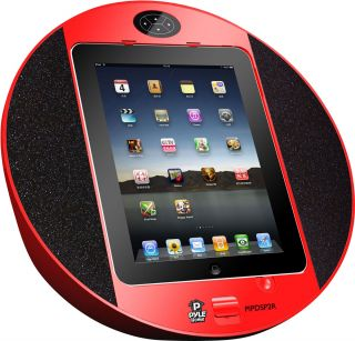 Pyle iPod iPhone iPad Touch Screen Dock with Built in FM Radio Alarm CL PIPDSP2R