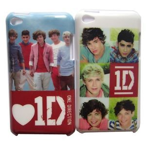 2pcs 1D One Direction Hard Platic Back Case Cover Skin for iPod Touch 4 4G 4th