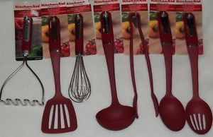 KitchenAid Red Kitchen Utility Cooking Utensils Assorted Tools Gadgets New