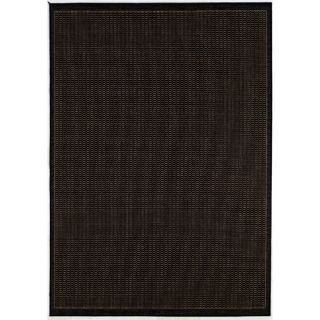 Couristan Recife Saddle Stitch Black Cocoa Rug