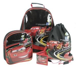 Disney Cars 2 4 Pce Luggage Set Inc Wheeled Bag