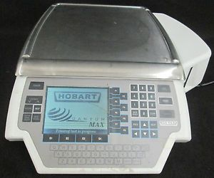 Hobart Quantum Commercial Digital Scale w Label Printer ml 29032 BJ S226 0420