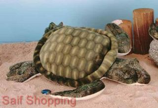 "Plush Soft Stuffed Animal Sea Turtle Tortoise Shell 14"" 35 5 cm Limited"