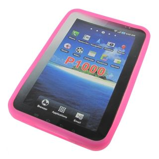 "Rubber Silicone Gel Cover Case for Samsung Galaxy Tab 7"" P1000 Tablet Pink"