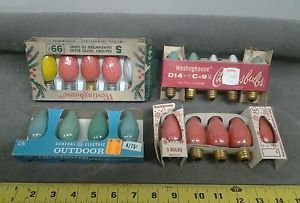 Vintage Christmas Bulbs 19 Westinghouse GE C9 Swirl Light Bulbs