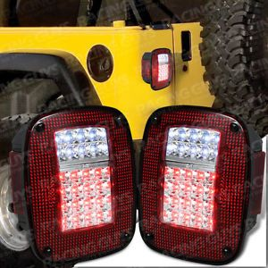 1987 2006 Jeep Wrangler LED Tail Light Lamp Lights CJ5 Laredo Renegade Brake