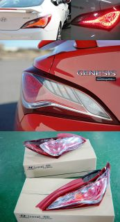 2010 2011 2012 Genesis Coupe LED Tail Light Rear Lamp Pair Assy Full Kit Genuine