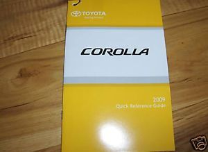 2009 Toyota Corolla Owners Manual Supplement