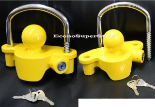 Lots 2 Same Key Universal Tow Trailer Coupler Lock Anti Theft Locks Protection