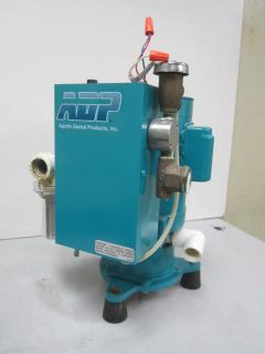 ADP Apollo Dental Single Head Wet Ring Vacuum Pump Unit Model AVB10S