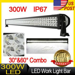 "52"" inch 300W Spot Flood Combo LED Work Light Lamp Bar Offroad SUV Car Boat 4WD"
