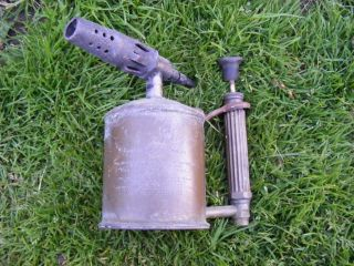 Antique Old Brass Vintage Blow Lamp Torch Max Sievert APH Roofing Tool Burner