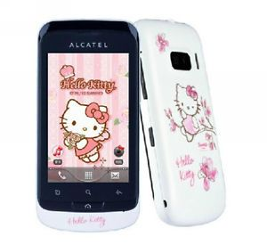 Alcatel OT 919 Hello Kitty Android 3G WLAN Camera Girl Cell Phone Dual Sim Cards