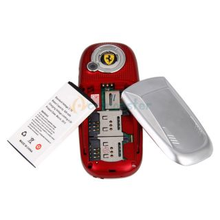 New f6 1 8'' Mini Dual Sim Cards Dual Standby CDMA  Camera Cell Phone Red