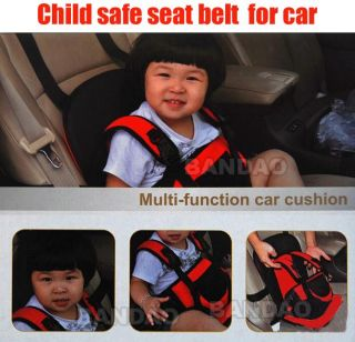 Portable Baby Kids Children Car Carrier Safety Seat Cover Cushion Mesh Harness