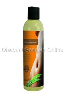 Energizing Certified Intimate Organic Sensual Massage Oil Orange Ginger Root 4oz