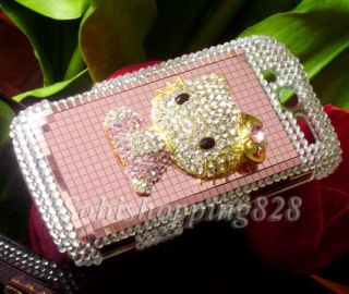 Pink 3D Hello Kitty Bling Hard Snap on Case Cover for HTC T Mobile myTouch 4G