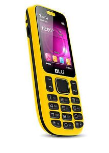 Blu Jenny TV T172T Dual Sim Quadband Unlocked GSM Yellow Cell Phone New