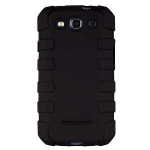 New Body Glove Drop Suit Rugged Cell Phone Case for Samsung Galaxy s III Black
