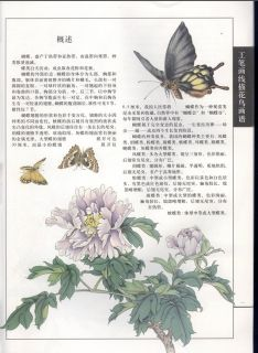 PDF Format Book Butterfly Flower Chinese Painting Tattoo Sketch Flash Reference