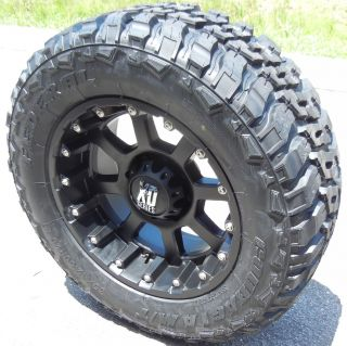"20"" Black XD Strike Wheels Rim 35"" Federal MT Tire Chevy GMC Dodge RAM 2500 3500"