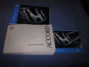 2003 Honda Accord Coupe Owners Manual Owner's Set